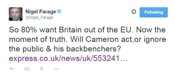 Farage - leave EU