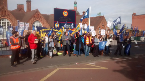 The picket line at lower school